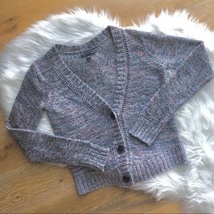 3/$25 AMERICAN EAGLE  pink + blue knit cardigan